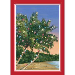 Brighten the Season Christmas Palm & Lights Greeting Cards