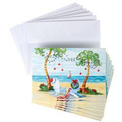 Brighten the Season Palm Tree & Beach Chair Greeting Cards