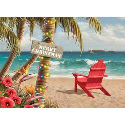 Brighten the Season Adirondack Beach Chair Greeting Cards