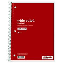 Office Depot Wide Ruled Notebook