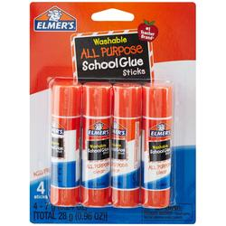 4-pk. Washable School Glue Stick
