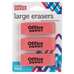 Office Depot 3-pk. Large Eraser Set