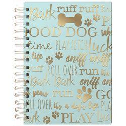 Punch Studio Dog Phrase Spiral Journal