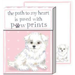 Puppy Paw Print Pocket Note Pad