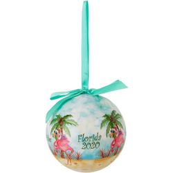 Brighten the Season 2020 Warm Wishes Flamingo Ball Ornament
