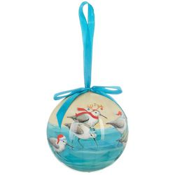 Holiday Sandpipers Ball Ornament