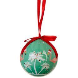 Brighten the Season Flamingo Deck The Palms Ball Ornament