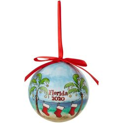 Brighten the Season 2020 Beach & Stocking Ball Ornament
