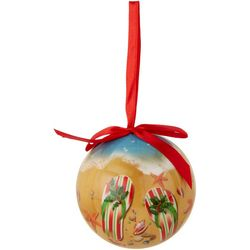 Brighten the Season Christmas Flip Flops Ball Ornament
