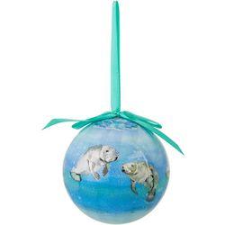 Brighten the Season Manatee Ball Ornament