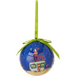 Santa Camper Ball Ornament