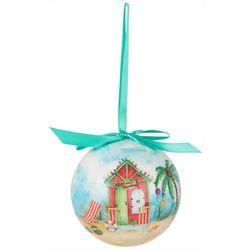 Brighten the Season Cabana Ball Ornament