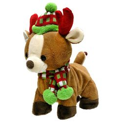 Cuddle Barn Rock & Roll Rider Reindeer Plush