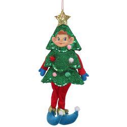 Brighten the Season Elf Christmas Tree Plush Ornament