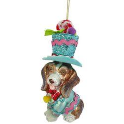 Brighten the Season Beagle & Hat Ornament