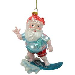 Brighten the Season Surfing Santa Ornament