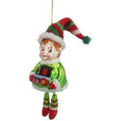 Brighten the Season Elf Dangled Legs Ornament