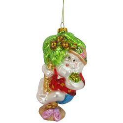 Brighten the Season Coconut Palm Tree Santa Ornament
