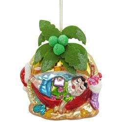 Brighten the Season Beach Santa Hammock Ornament