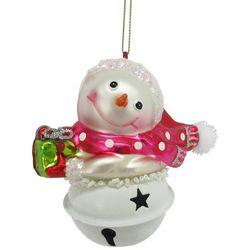 Brighten the Season Snowman Bell Ornament