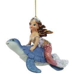 Brighten the Season Enchanted Mermaid & Sea Turtle Ornament