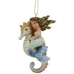 Brighten the Season Enchanted Mermaid & Seahorse Ornament