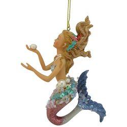 Brighten the Season Flowy Hair Sequin Mermaid Ornament
