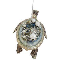Brighten the Season Pearl Sea Turtle Ornament