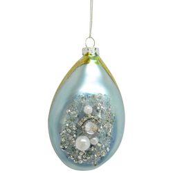 Brighten the Season Pearl Shell Teardrop Ornament