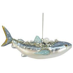 Brighten the Season Enchanted Pearl Whale Shark Ornament