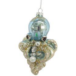 Brighten the Season Octopus Beaded Pearl Ornament