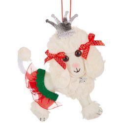 Brighten the Season Holiday Plush Poodle Ornament