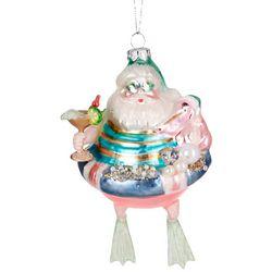 Brighten the Season Swimming Santa Float Ornament