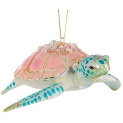 Brighten the Season Sea Turtle & Beaded Shell Ornament