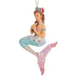 Brighten the Season Brunette Mermaid Sequin Tail Ornament
