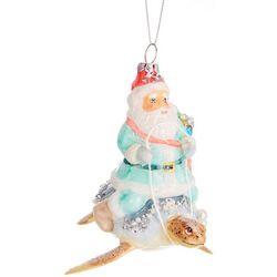 Brighten the Season Santa Riding Sea Turtle Ornament