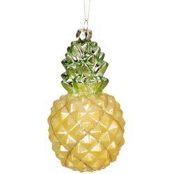 Brighten the Season Glittery Pineapple Ornament