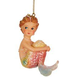 Brighten the Season Mermaid Sitting Shimmering Tail Ornament