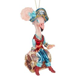 Brighten the Season Flamingo Pirate Ornament