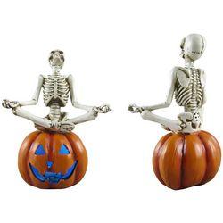 Yoga Skeleton Pumpkin Decor