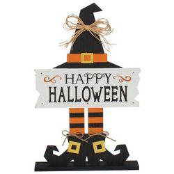 Brighten the Season Happy Halloween Witch Decor Sign