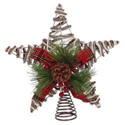 Brighten the Season Holly Berries Metal Starfish Tree Topper