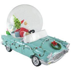 Brighten the Season Santa Claus Car Snowglobe Tabletop