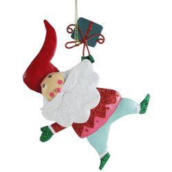 Brighten the Season Hanging Glitter Santa Claus Ornament