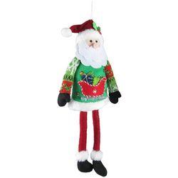Brighten the Season Sweater Santa Claus Fabric Ornament
