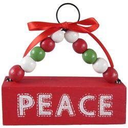 Brighten the Season Beaded Peace Ornament