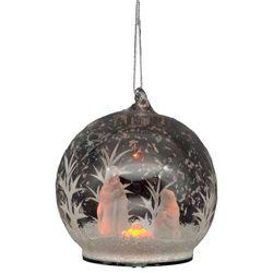 Brighten the Season LED Nativity Glass Ornament
