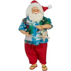 Brighten the Season 11'' Beach Santa Figurine