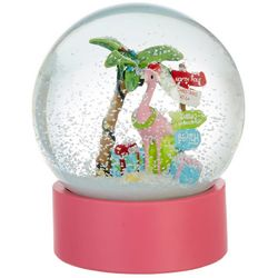 Brighten the Season Flamingo Island Snow Globe