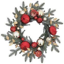 Brighten the Season 24'' Shell & Ball Ornament Wreath